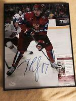Edmonton Oilers - Nail Yakupov Signed 11x14 Photo JSA COA
