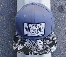 Vans Skateboard Original Patch Mens Gray Snapback Hat One Size