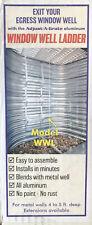 Basement Window Well Egress Escape Ladder 3-Step Tempered Aluminum New