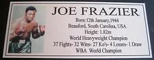 Boxing Joe Frazier New Silver  Photo  Free Postage