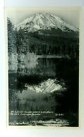 RPPC 1939 California Mt Lassen From Manzanita Lake Real Photo Postcard
