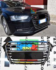 GRIGLIA ANTERIORE IN ABS AUDI A4 B8 2012-2015 CALANDRA NERA LOOK S4 MASCHERINA