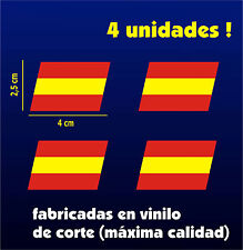 Pegatinas - Sticker - Vinilo - BANDERA DE ESPAÑA VOLCADA - Coche - Bici - Moto