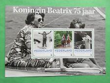 Persoonlijke vel 3012-D-6 Koningin Beatrix 75 jaar postfris