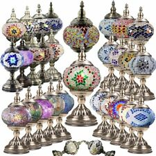 Handcrafted Mosaic Turkish Lamp Moroccan Glass Table Desk Light w E12 Bulb