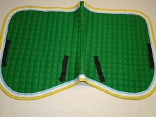 saddle pads 100% cotton with two colors piping all around poly-fill padding