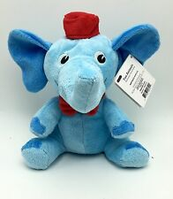 Elephant Blue Soft 8 inch Plush Stuffed Animal Toy New