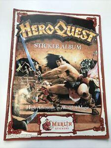Merlin HeroQuest Sticker Album 1991 - Rare - EXCELLENT CONDITION