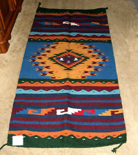 "Thick Hand Woven Wool Throw Rug / Tapestry Southwestern 32x64""  409"