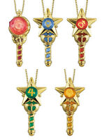 Bandai Sailor Moon Prism Crystal Makeover Stick & Rod Wand Keychain set of 5