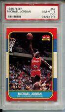 1986 Fleer Basketball #57 Michael Jordan Rookie Card RC Graded PSA NM MINT 8 OC