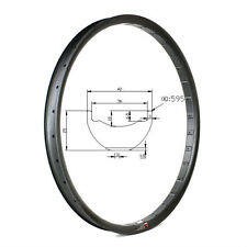 27.5er Hookless snow fat bike rim full carbon fiber mountain bicycles rim 42mm