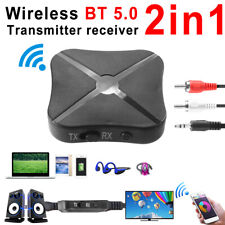 Portable Wireless Bluetooth AUX RCA Transmitter Speaker Audio Adapter Receiver