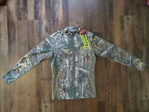 Under Armour Cold Gear Ls Mock Shirt Scent Control L Hunt Mallard Realtree Xtra