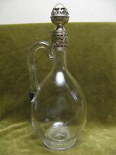 Aiguière cristal & argent minerve Christofle (french crystal & silver claret jug