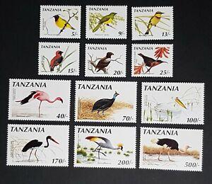 Tanzania: SG804-; 1990 birds; incomplete unmounted mint (MNH) set