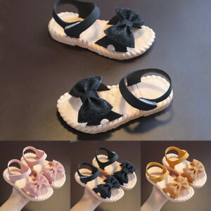 Girl's Bow Knots Flat Sandals Summer Toddler Baby Kids Holiday Princess Shoes