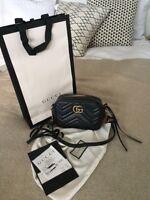 Gucci GG Mini-Tasche Marmont aus Matelasse*schwarz gold* wie neu*trendy*Blogger*