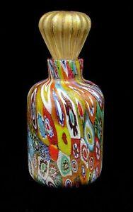 Sublime Quality Murano Art Glass Millefiori Murrine Perfume Bottle & Stopper