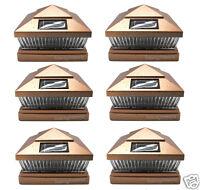 6X6 Outdoor Garden Solar Post Deck Cap Square Railing Fence LED Lights 6-Pack
