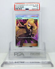 Pokemon ULTRA PRISM CYNTHIA #148 FULL ART HOLO FOIL TRAINER PSA 10 GEM MINT #*