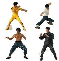 4pcs / set Bruce Lee Figuras de acción Dragon Enter Master Kung Fu Juguetes