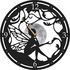 Angel Butterfly Metal Wall Clock - Butterfly Decorative Clocks - Metal Wall Art
