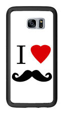 I Heart Love Mustache For Samsung Galaxy S7 G930 Case Cover by Atomic Market