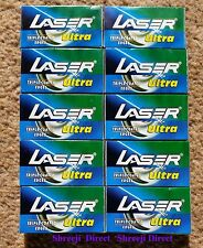 100 x Laser Ultra Triple Coated DOUBLE EDGE SAFETY RAZOR BLADES - Limited Offer