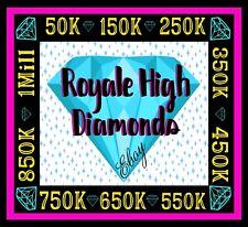 ROYALE HIGH DIAMONDS (15K-1M) 🟢 ONLINE NOW!! RH, HALO *READ DESCRIPTION*