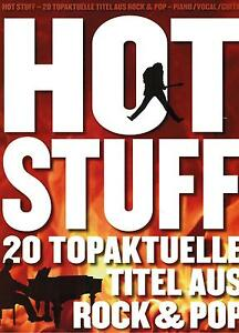 Klavier Gesang Noten : HOT STUFF Songbook 20 aktuelle Titel Rock Pop Songbook