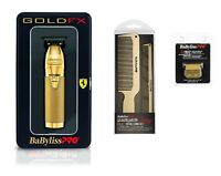 BaByliss PRO Hair Trimmer FX787G GOLDFX Outlining T-Blade w/ Comb & Replacement