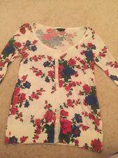 Topshop Floral Cardigan Size 8