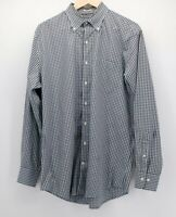 Peter Millar Men's L Large Blue Brown plaid  L/S Button Down Shirt euc