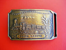 Vintage Wells Fargo and Company South Dakota Belt Buckle