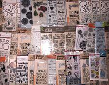 Lot 200 pkgs clear stamps/Stencils Sets Mama Elephant Hero Arts Fiskars