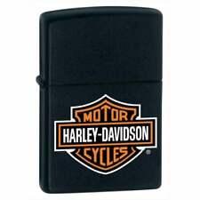 More details for zippo x harley-davidson lighter colour logo matt black