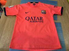 Barcelona Away Shirt Season  Boys 2014 Age 12 Years (C7)