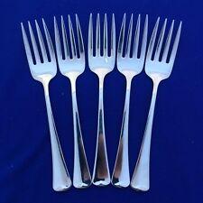 "Oneida WYNDHAM Glossy (5) Salad Forks 6"" Rogers Stainless Flatware Silverwar B22"