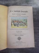 Livre de Géographie ancien en Allemand 1904 / Deutsches Geografiebuch / Old book