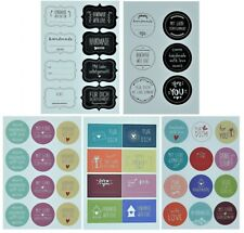 6 x Aufkleber Set handmade 276 teilig 30 Bogen Geschenkaufkleber selbstgemacht