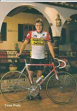 CYCLISME carte cycliste TWAN POELS équipe KWANTUM 1986