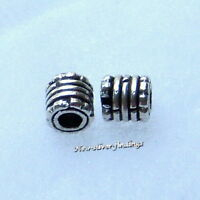 925 Bali Sterling Silver 5x5mm 10pcs.Tube Spacer bead Handcrafted Findings New