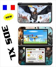 SKIN STICKER AUTOCOLLANT DECO POUR NINTENDO 3DS XL - REF 199 DRAGON