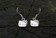 Handmade Hello Kitty Earrings Perfect for Christmas Stocking Filler Kitsch Japan
