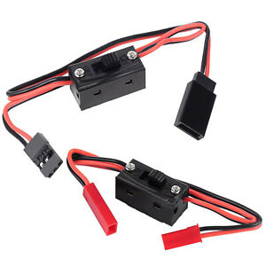 1/10 RC Car LED Light On/Off Power Switch JR/JST Connector for RC Car Boat Buggy