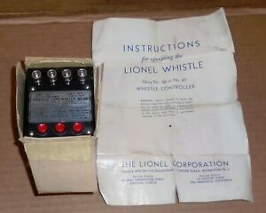 "* ""Lionel Post War O Trains .. ""Lionel Whistle Controller #66""  w/ Partial Box"