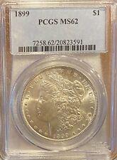1899 P PCGS GRADE MS 62! BEAUTIFUL MORGAN SILVER DOLLAR! RARE DATE COIN!