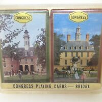 Vintage 2 Williamsburg The Capital Governors Place Congress Bridge Playing Cards