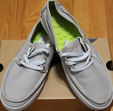 $85 TRETORN GRIFFIN GREY OTTO WASHED CANVAS BOAT SHOE SZ 6.5UK/ 7.5US